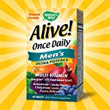 Natures Way Alive! Once Daily Mens Multivitamin, Ultra Potency, Food-Based Blends (291mg per serving), 60 Tablets