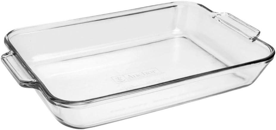 Anchor Hocking 81935OBL11 Bake Dish, 3 quart, Clear