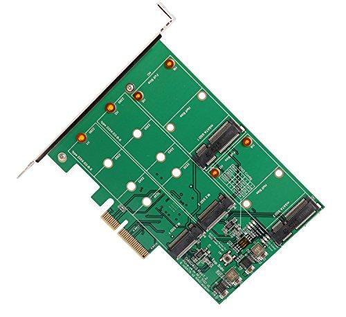 IO Crest mSATA & M.2 PCI-Express x4 Slot Dual Lane Hardware Controller Card RAID 0/1/JBOD, SY-PEX50090