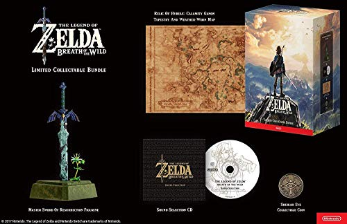 The Legend of Zelda: Breath Of The Wild Limited Edition with Master Sword of Resurrection Figurine -