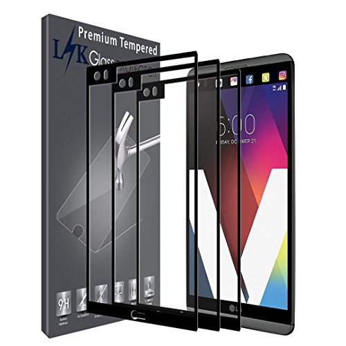 LK [3 Pack] Screen Protector for LG V20, [Full Cover] Tempered Glass with Lifetime Replacement Warranty (Black) (Best Lg V20 Glass Screen Protector)