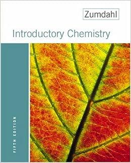 Zumdahl chemistry 5th edition