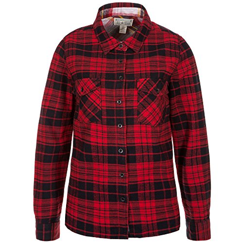 Convers Plaid Flannel Button Womens product image