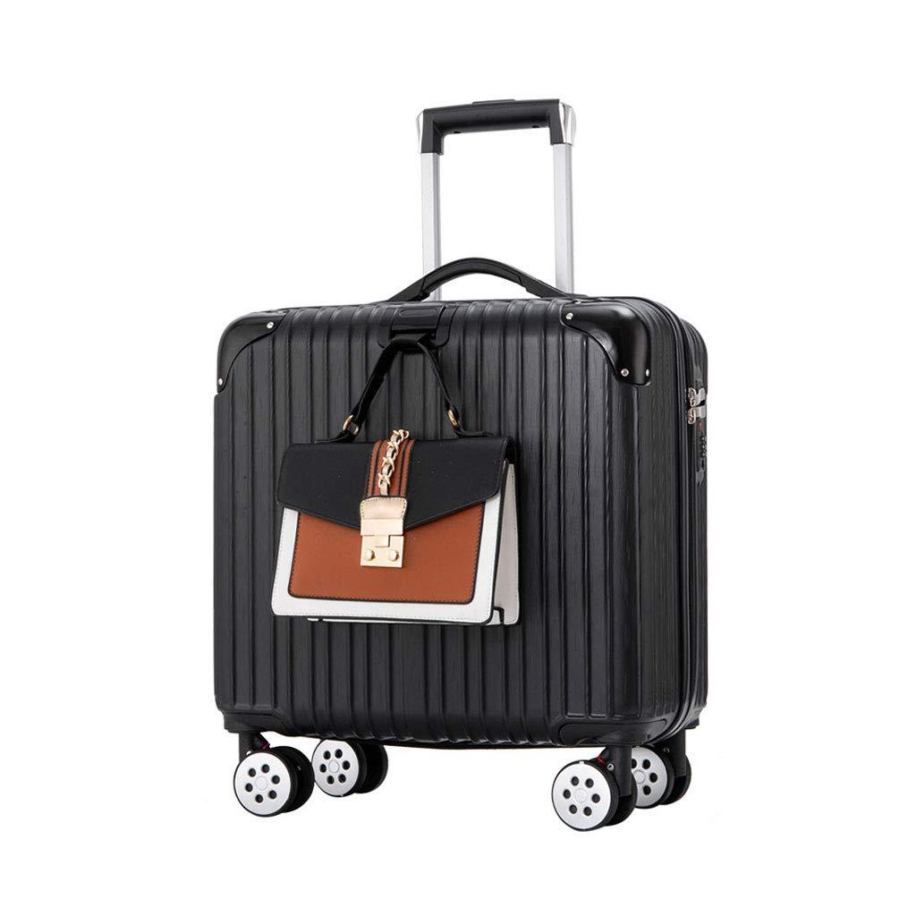 キャビントロリー超軽量ABSハードシェルトラベルキャリーハンドキャリースーツケース(4つの車輪付き)、ハードシェルトロリーサイズ B07P1H18JS  40cm*25cm*44cm