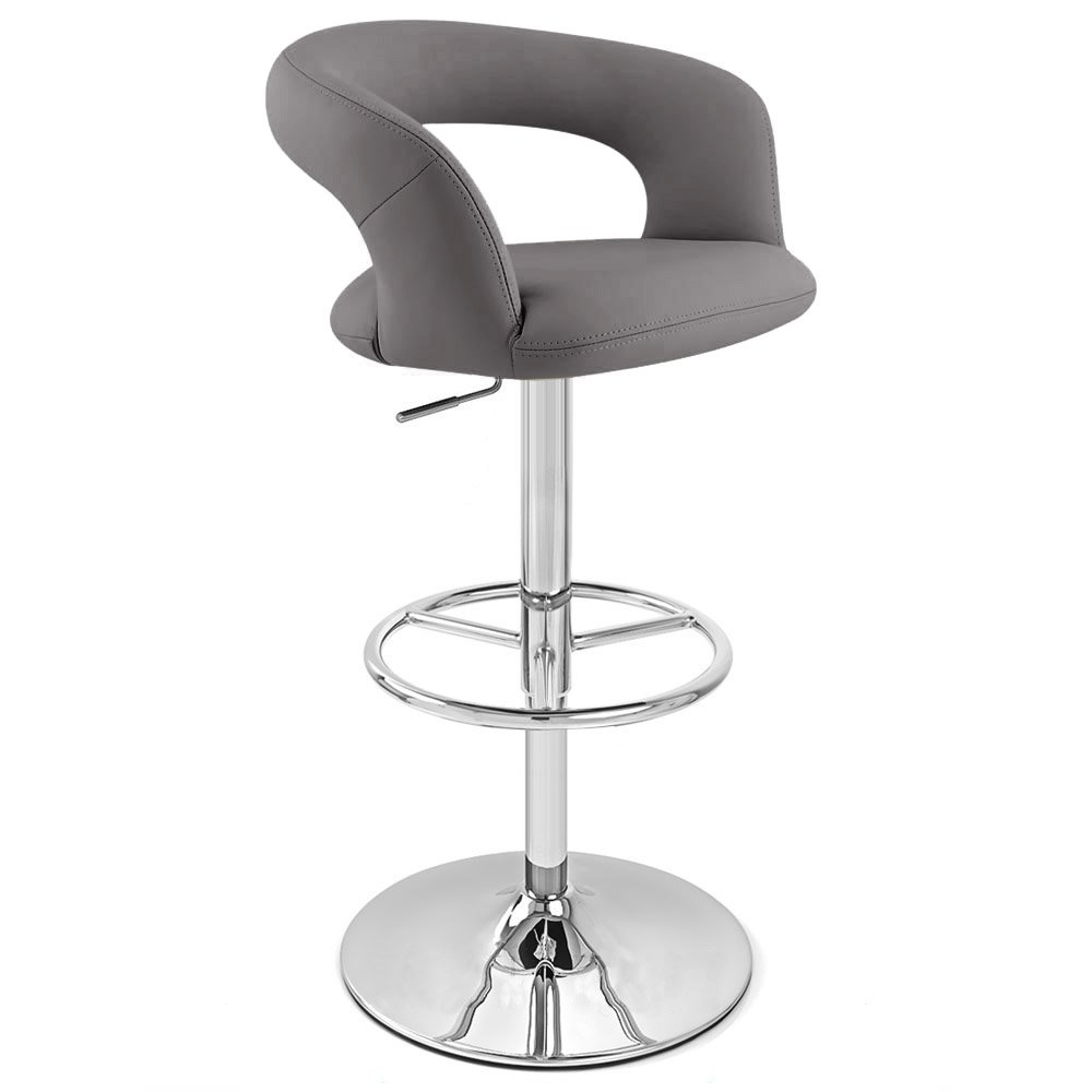 Zuri Furniture Slate Monza Adjustable Height Swivel Armless Bar Stool
