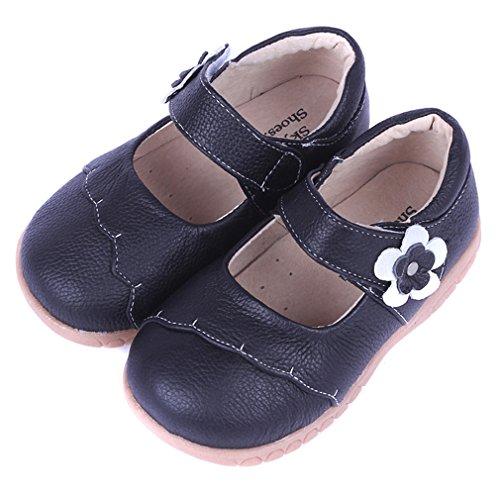 KVbaby Mädchen Mary Jane Kinder Prinzessin Partei Schuhe Ballerina Sandalen Halbschuhe Schwarz