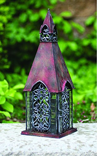 English Yorkshire Architectural Lantern Tea Light Candle Holder - ChristmasTablescapeDecor.com
