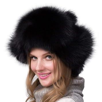 5910d589d15af FENICAL Chapkas Fourrure Oreille Russe Chapeau Fausse Fourrure Bonnet  Chapeau de Hiver pour Femme