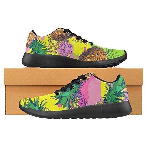 Interestprint Mujeres Jogging Running Sneaker Ligero Go Easy Walking Casual Comodidad Deportes Zapatillas Pineapple Y Color Splash Multi 1