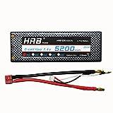 HRB 5200mAh 7.4V 2S 35C LiPo Battery HardCase for RC Car - Trucks - Boat