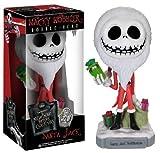 jack bobblehead - SANTA JACK Bobble Head Figure: Tim Burton's The Nightmare Before Christmas Wacky Wobbler 20 Years Anniversary Series Collectible.