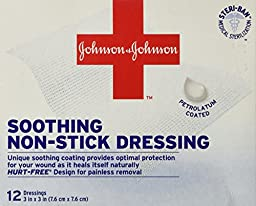 Red Cross First Aid Soothing Non-Stick Dressings-12 count, 3\