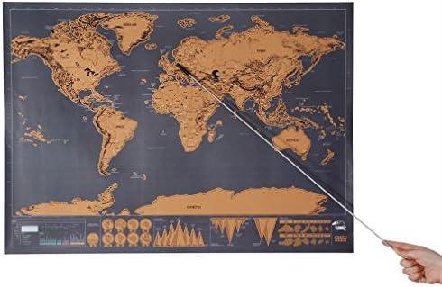 Outad Kratz Weltkarte Personalisierbare Weltkarte Zum Kratzen Der