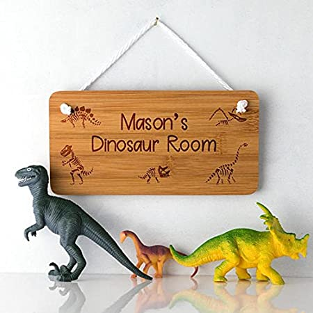 Cartel de puerta de dinosaurio - Cartel personalizado ...
