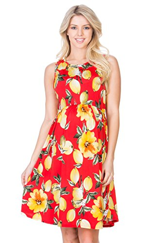 My Bump Womens Sleeveless Maternity Knee Length Tank Dress(Made in USA)
