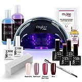 Mylee Bluesky Kit LED Nail Lamp 4 Gel Polish Colours Top Base Prep+Wipe Remover (Black LED Lamp)