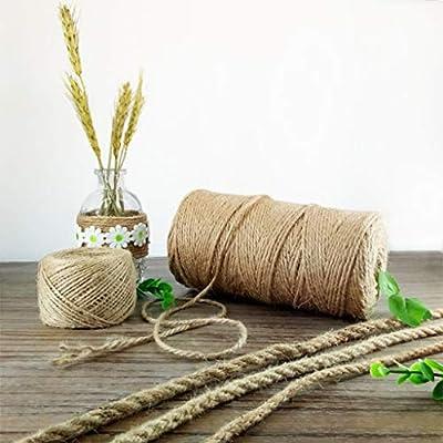 Cuerdas específicas Cuerda de cáñamo - Línea de yute vintage de jardín de infantes - Cuerda liada decorativa tejida a mano - Cuerda de cáñamo de garra de gato horneada a mano (