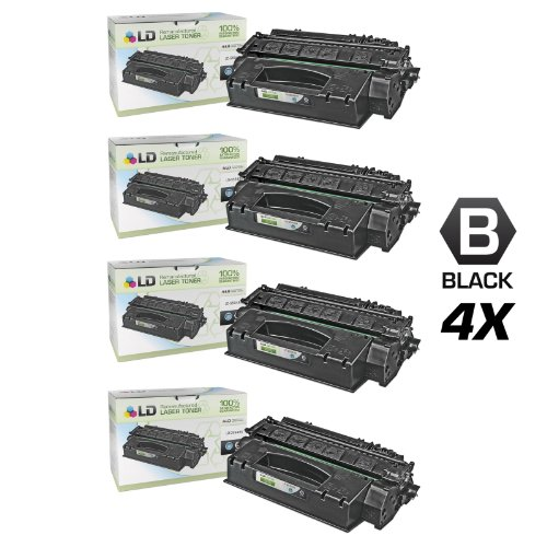 LD Compatible Toner Cartridge Replacement for HP 49X Q5949X High Yield (Black, 4-Pack)