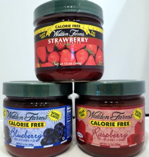 Walden Farms Fruit Spread Variety Calorie Free - Bluberry, Strawberry, And - Raspberry Walden Farms