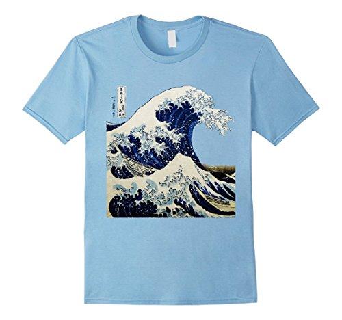 Men's Kanagawa Japanese The great wave T shirt Medium Baby (Male Japanese Clothing)