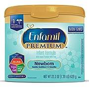 Enfamil PREMIUM Newborn Non-GMO Infant Formula - Reusable Powder Tub, 22.2 oz