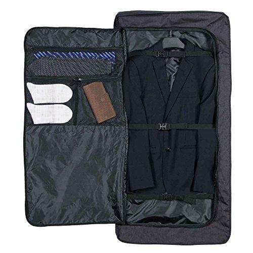Hynes Eagle 45 inch Portable Garment Bag Hanging Travel Foldable Suit Bag Black by Hynes Eagle (Image #2)