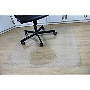 "Office Desk Chair Mat for Hard Wood Floor Thick PVC Matte 48"" x 36"",Transparent Sturdy Chair Mat"