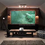 Elite Screens Aeon CLR Series, 90-inch 16:9, Edge Free Ambient Light Rejecting Fixed Frame Projector Screen, Ceiling Light Rejecting Projection Material for Ultra-Short Throw Projectors, AR90H-CLR