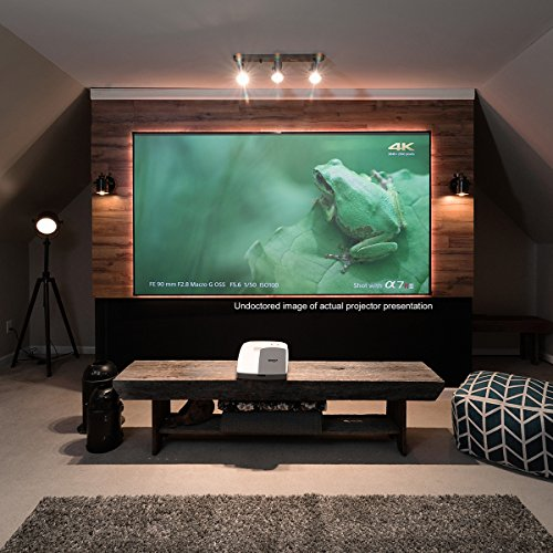 Elite Screens Aeon CLR Series, 100-inch 16:9, Edge Free Ambient Light Rejecting Fixed Frame Projector Screen, Ceiling Light Rejecting Projection Material for Ultra-Short Throw Projectors, AR100H-CLR (Projector Screen Shipping Free)