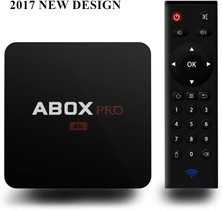 globmall Android 6.0 TV Box With RF Remote 1 GB RAM 8 GB ROM AmlogicS905 X 64 bits Quad Core A1 Pro Smart TV Box Soporte 4 K (60Hz) Full HD auténtico/H.265/Wifi