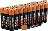 28 Pack AmVolt AAA Batteries [Ultra Power] Premium LR3 Alkaline Battery 1.5 Volt Non Recharchable Batteries