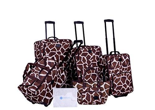 American Flyer Giraffe - American Flyer Barnum 6-Piece Luggage Set, Giraffe Brown