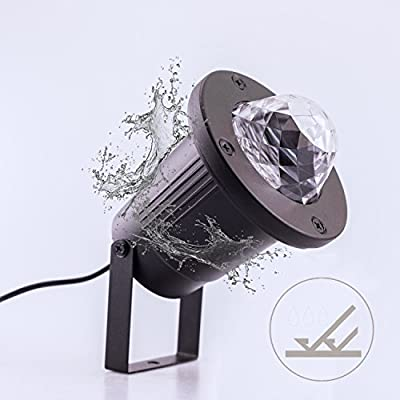 Coidak Waterproof Water Wave LED Light Projector with Remote Controller, Colorful Flowing Water Ripple Effects, for Halloween, Christmas, Parties, Dances, etc.