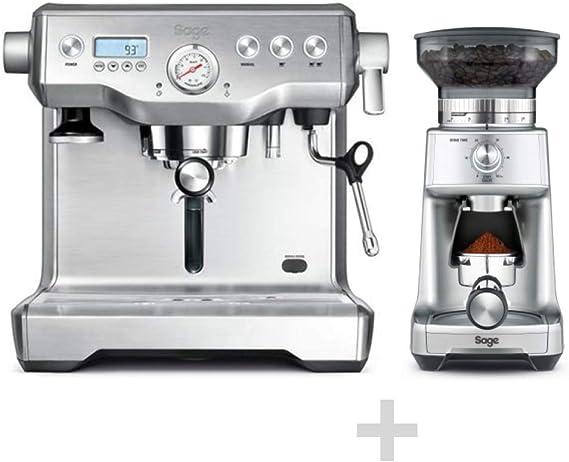 SAGE SES920 The Dual Boiler, portafiltros para cafetera expreso con bomba doble de 15 barras + molinillo de café SES920 de gratuita - The Dose ControlTM Pro Acero inoxidable cepillado.: Amazon.es: Hogar
