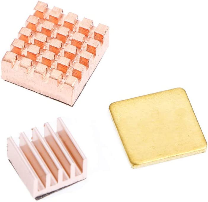 MANGKE - Copper Heatsink 3 Pcs/Set Heat Sink Cooling Kit for Raspberry Pi 3 Model B