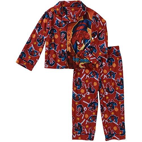 Marvel Spiderman Boy 2 PC Long Sleeve Coat Pajama Set Size 5T