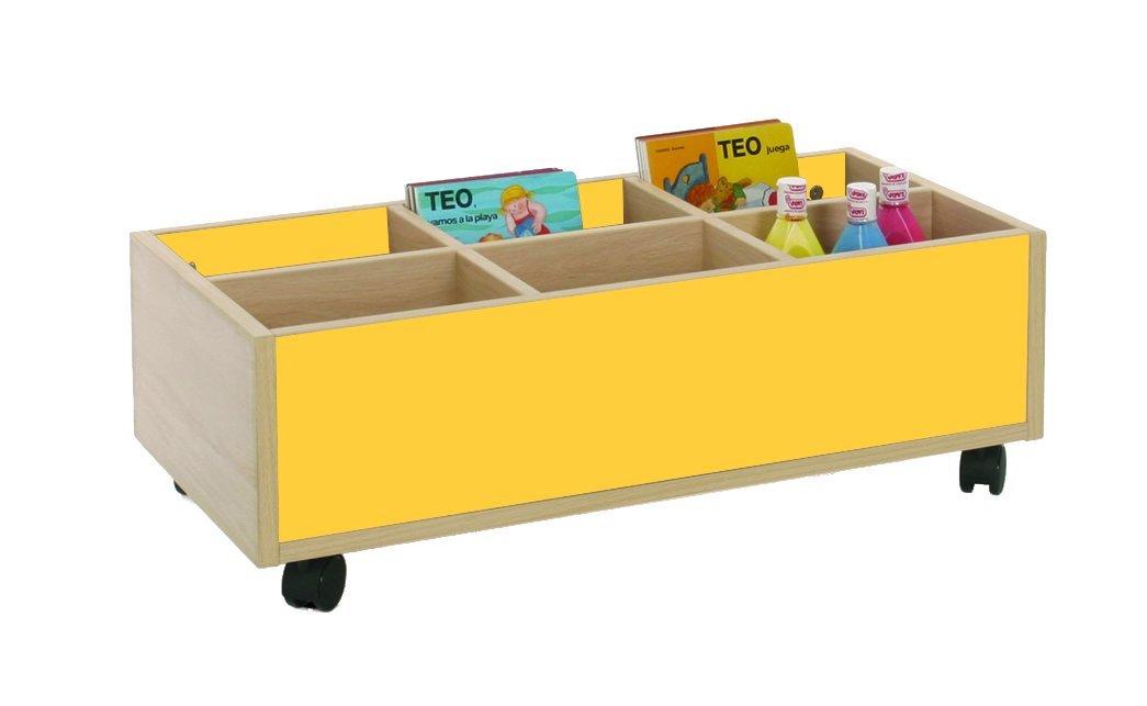 Mobeduc 600905HR17 Carrello-Libreria Bassa, in Legno, Colore: faggio/Bianco, 80 x 40 x 27 cm Mobeduc_600905HR17