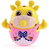 Smartcraft Deer Tumbler Doll, Cute Roly-Poly Toy, Cartoon Deer Rattle Tumbler Educational Toy