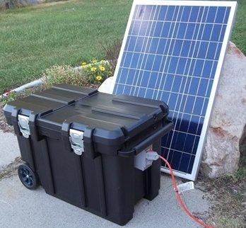 5000 Watt 200AH Solar Generator & (2) 100 Watt Solar Panels