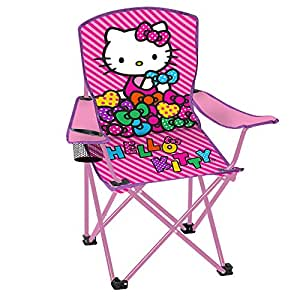 Amazon Com Hello Kitty Child S Folding Chair With Cup