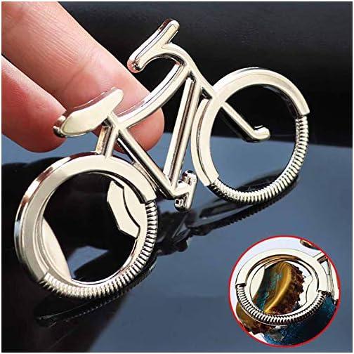 Bicycle Bottle Opener, Liangery Novelty Bike Shaped Beer Bottle Opener Keychain Key Ring for Men Women |