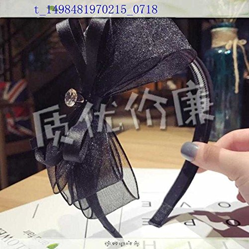 usongs Yong splendor large floral bow hair bands broadside pressure hair knotted silk gauze diamond Kare