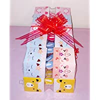 8x Pack Goody Bags Pre Made & Filled with Toys, Boys & Girls Goodie Bag, Filled Goody Bag / Loot Bag, Light up Toys & Candy; Pencil; Eraser; Sharpener