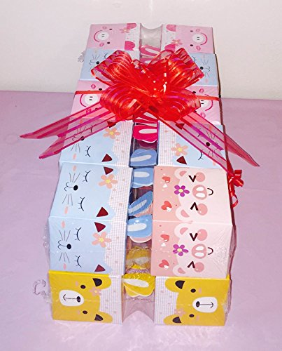 8x Pack Goody Bags Pre Made & Filled with Toys, Boys & Girls Goodie Bag, Filled Goody Bag / Loot Bag, Light up Toys & Candy; Pencil; Eraser; (Princess Filled Goody Bag)