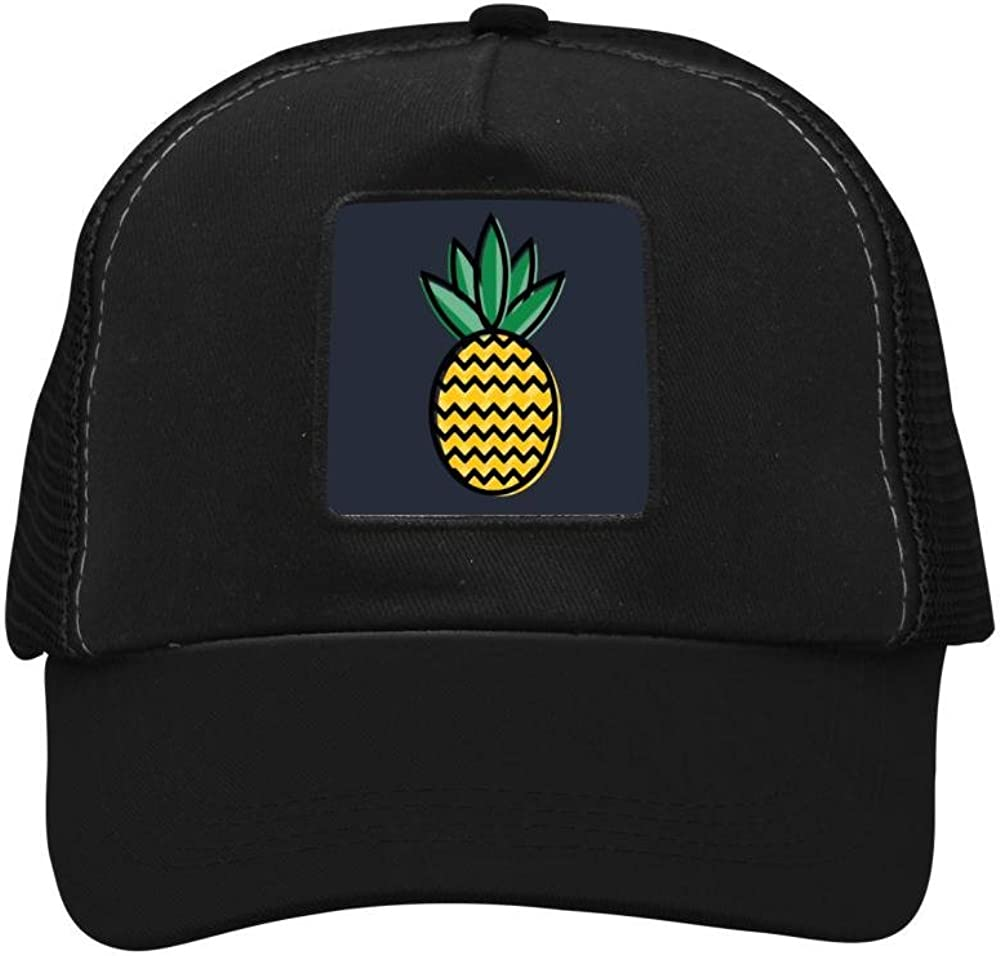 Nichildshoes hat Adult Mesh Caps Hats Adjustable for Men Women Unisex,Print Pineapple