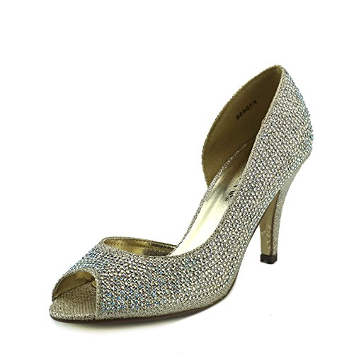 Kick Footwear Gold Wedding Kitten Heels Shoes for Womens Gold 8e2MSIlcF