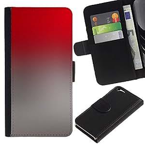 For Apple Apple iPhone 6(4.7 inches),S-type® Gradient Colors Grey Red Wallpaper - Dibujo PU billetera de cuero Funda Case Caso de la piel de la bolsa protectora