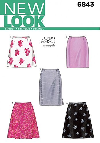 New Look Ladies Easy Sewing Pattern 6843 A Line & Straight Skirts