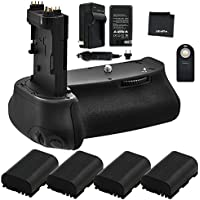 Battery Grip Bundle F/ Canon EOS 6D: Includes BG-E13 Replacement Grip, 4-Pk LP-E6 / LP-E6N Long-Life Batteries, Charger, UltraPro Accessory Bundle