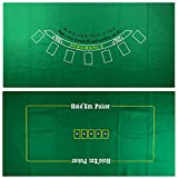 Yuanhe Blackjack and Craps 2-Sided Casino Table